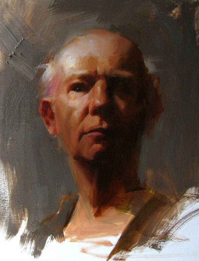 """Head Study 070512"" original fine art by Qiang Huang"
