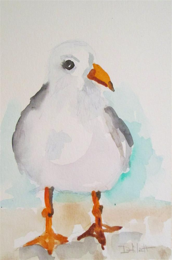 """Fat Gull"" original fine art by Delilah Smith"