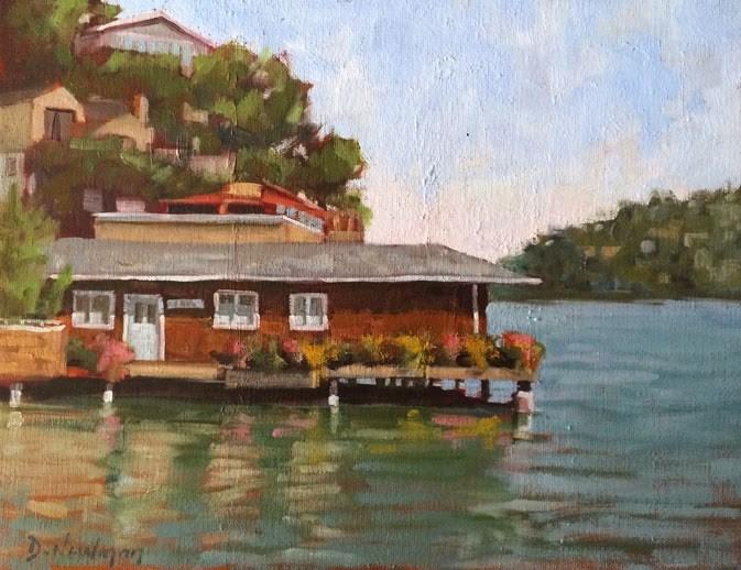 """""""High Tide"""" original fine art by Deborah Newman"""