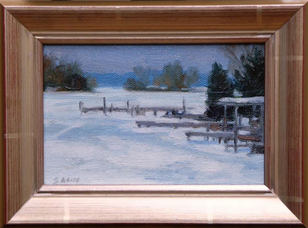 """Winter Sky 4x6"" original fine art by Sharon Will"