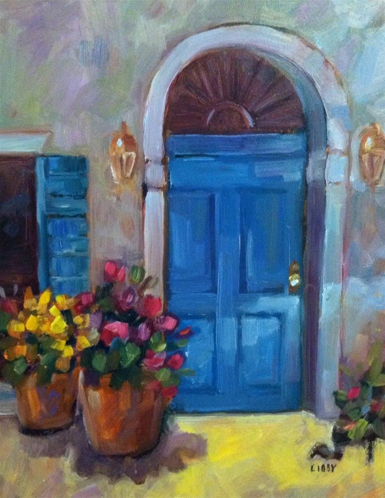 """""""Shadow door"""" original fine art by Libby Anderson"""