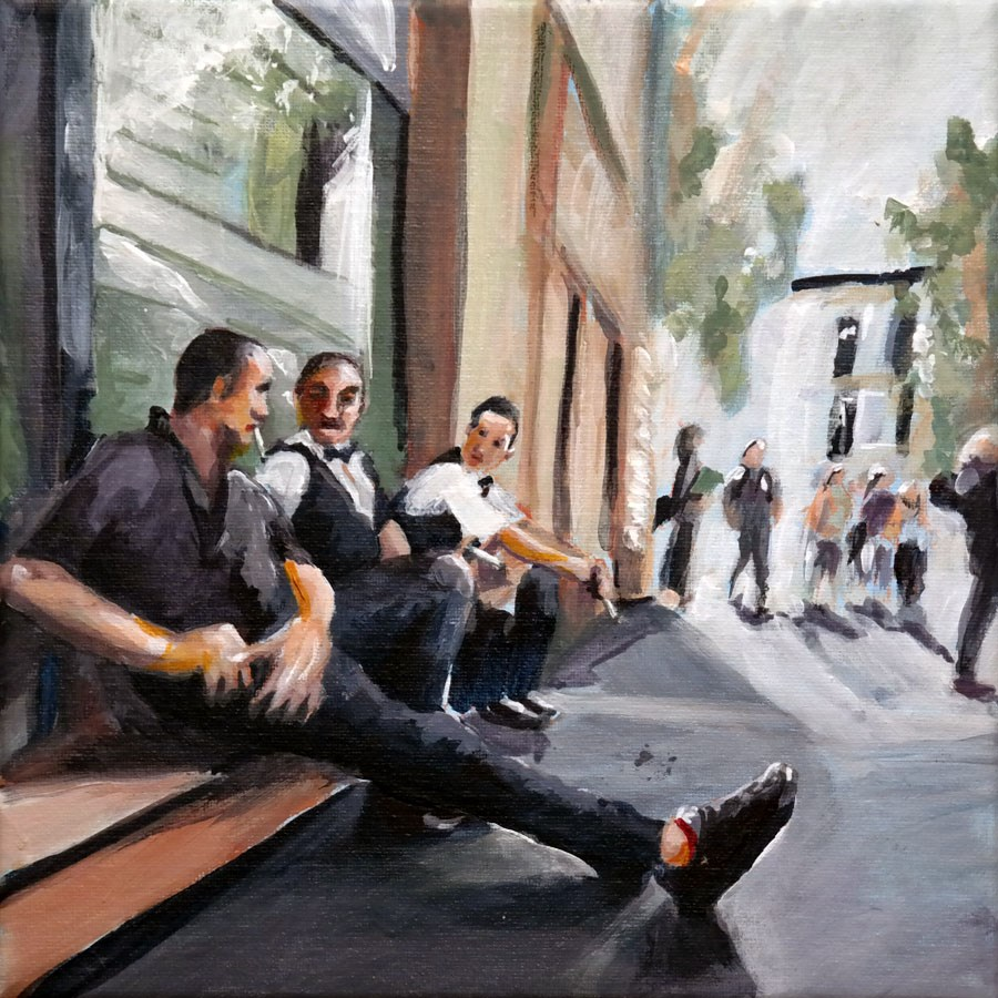 """1278 Fag Break"" original fine art by Dietmar Stiller"