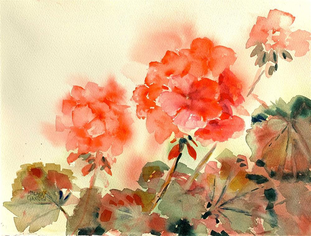 """Geraniums"" original fine art by Melissa Gannon"