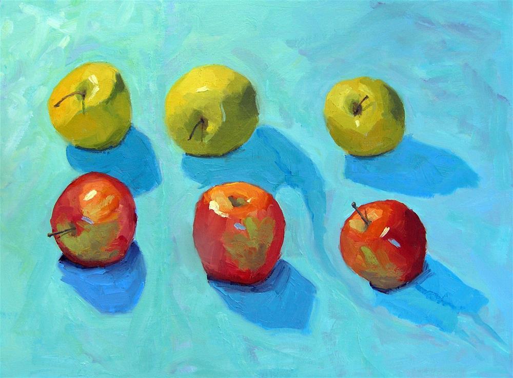 """Apple Picnic"" original fine art by Nina Brodsky"