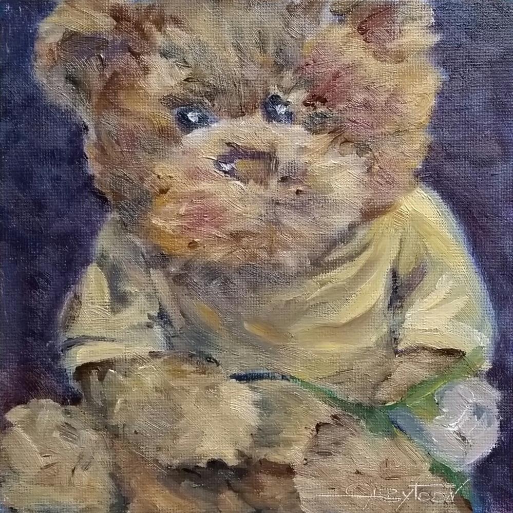 """""""Teddy"""" original fine art by Gabriella DeLamater"""