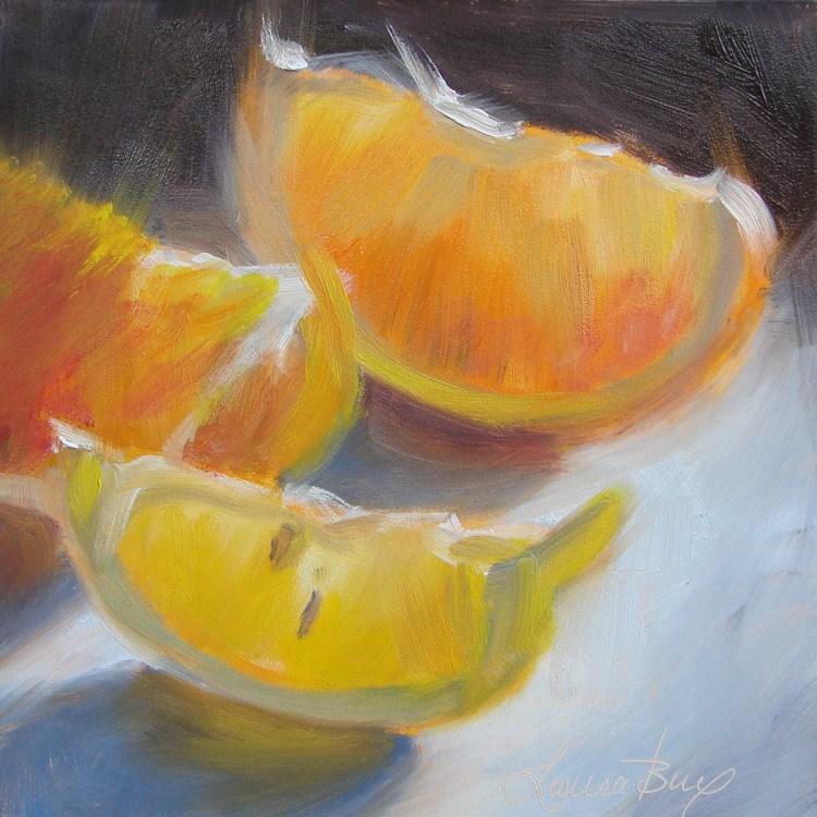 """Mixed Company - 417"" original fine art by Laura  Buxo"