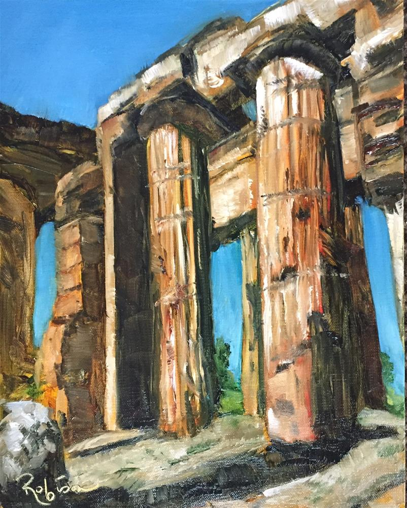"""Neptune's columns"" original fine art by Renee Robison"