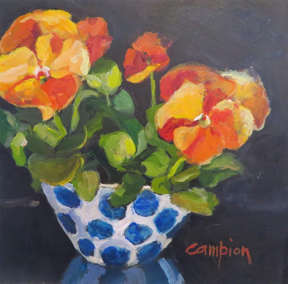"""598 Bringing Spring In"" original fine art by Diane Campion"