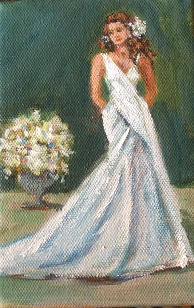 """Serene Bride, 7x5 Acrylic Painting by Kelley MacDonald"" original fine art by Kelley MacDonald"