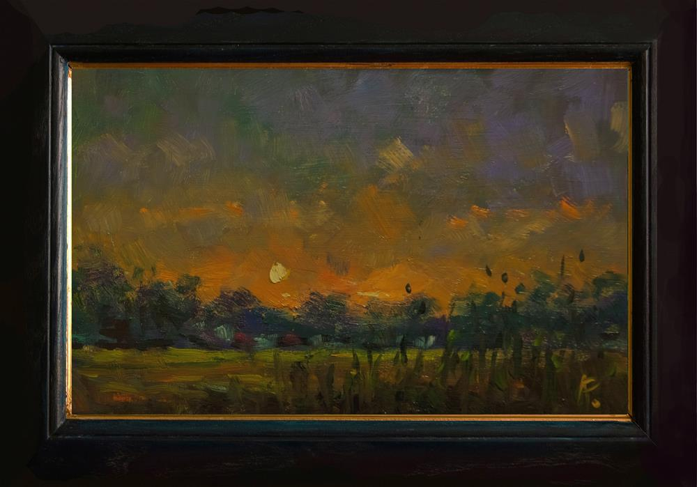 """""""Sunset at Climping"""" original fine art by Andre Pallat"""