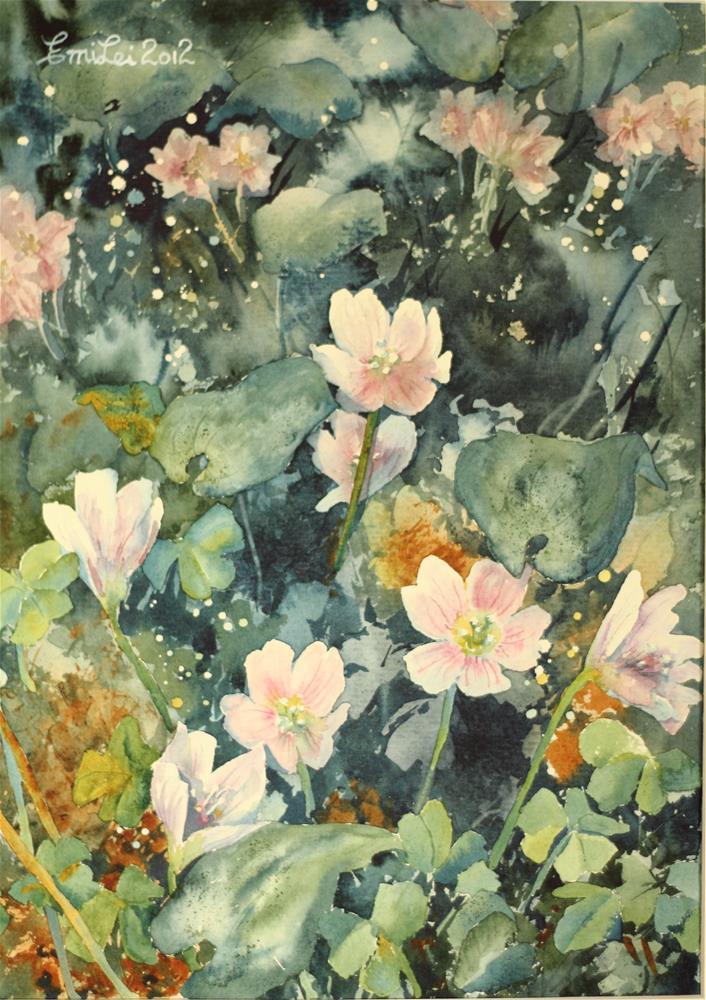 """Forest Floor: Wood Sorrels"" original fine art by Emilia Leinonen"