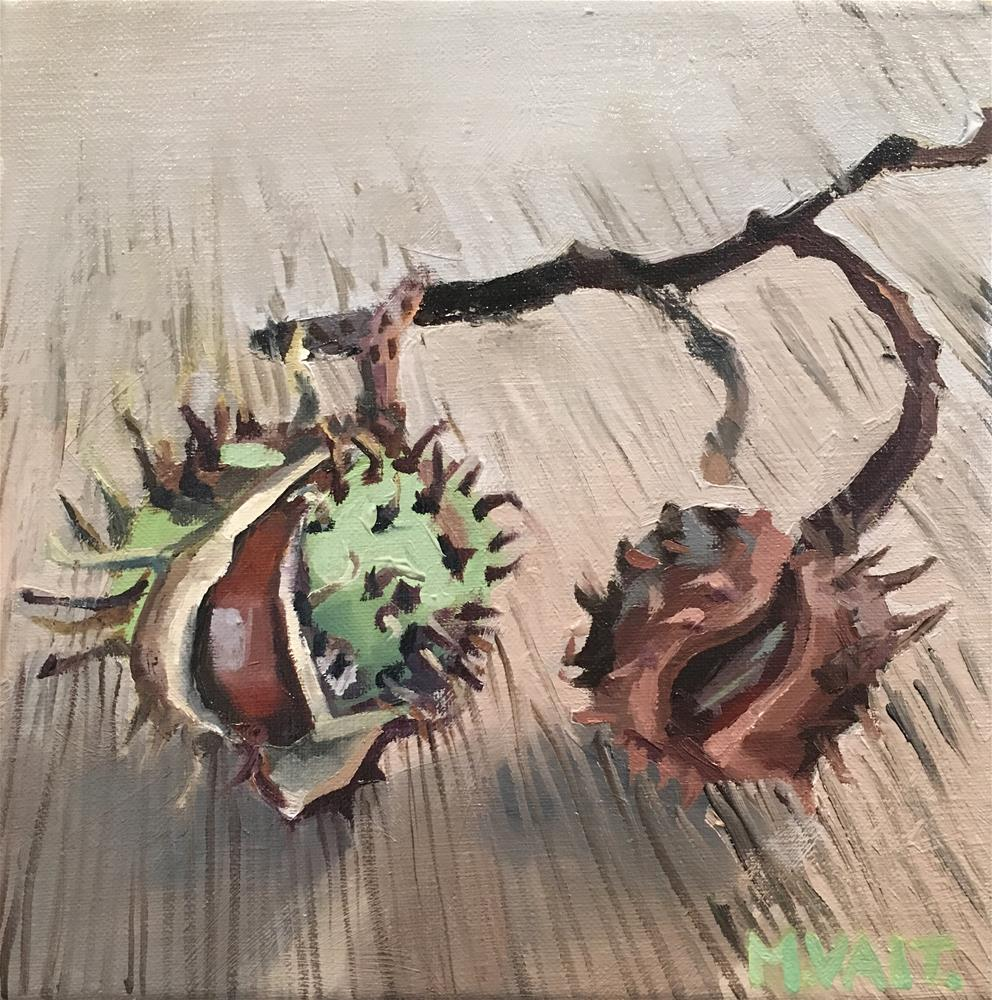 """Chestnuts"" original fine art by Milda Vaitiekunaite"