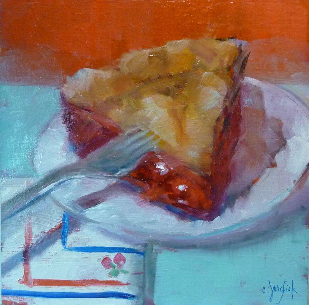 """Cherry Pie #3"" original fine art by Carol Josefiak"