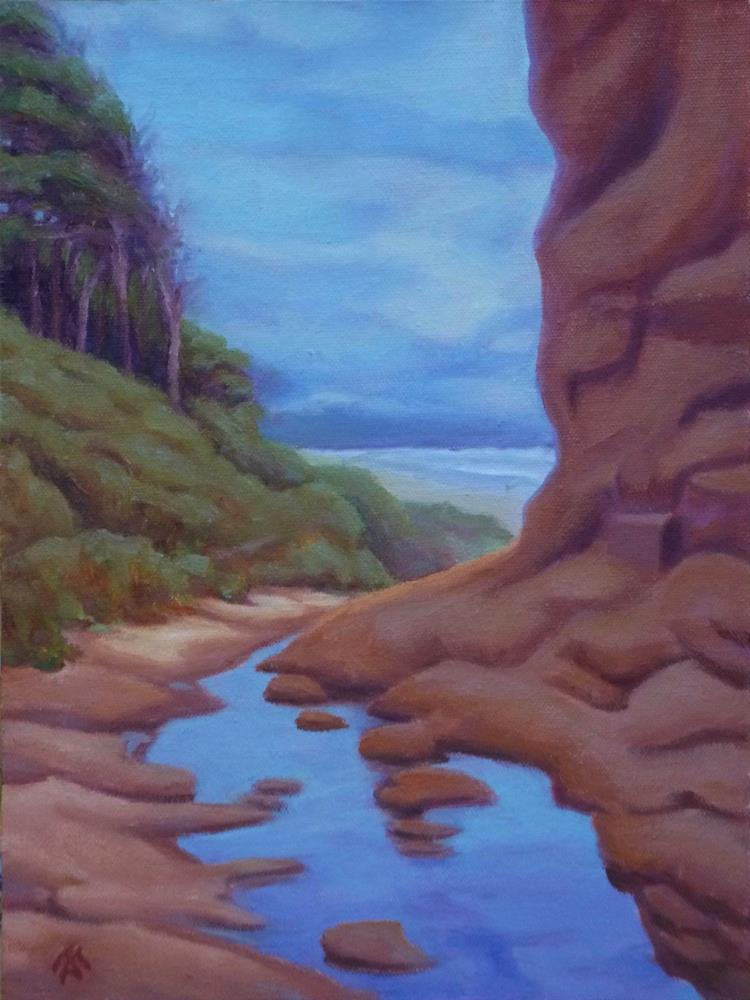 """Sandstone & Sky"" original fine art by Mark Allison"