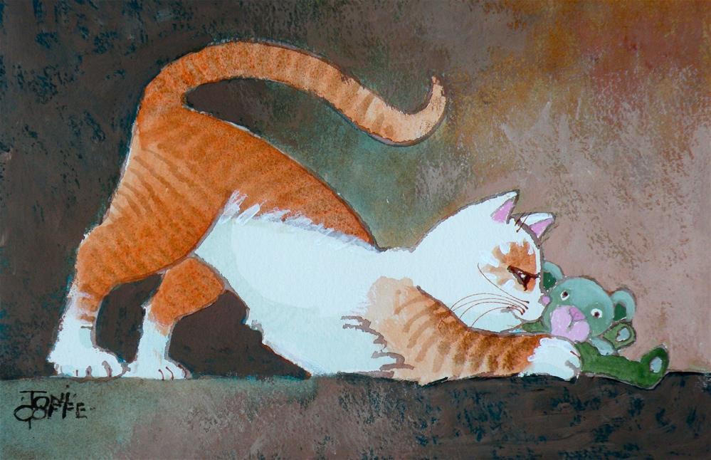 """""""My Little Friend"""" original fine art by Toni Goffe"""