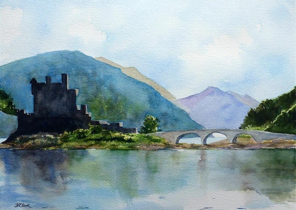 """Highlander's Fortress"" original fine art by Judith Freeman Clark"