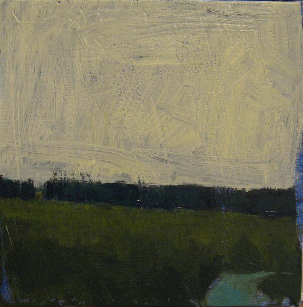 """Early A.M. Brook and Field"" original fine art by Kristina Davidson"