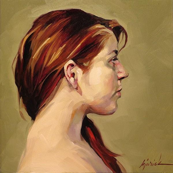 """200 Faces, No. 134"" original fine art by Karin Jurick"