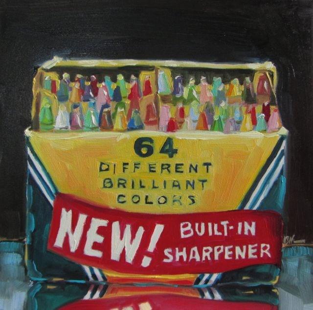 """64 COLORS"" original fine art by Mb Warner"