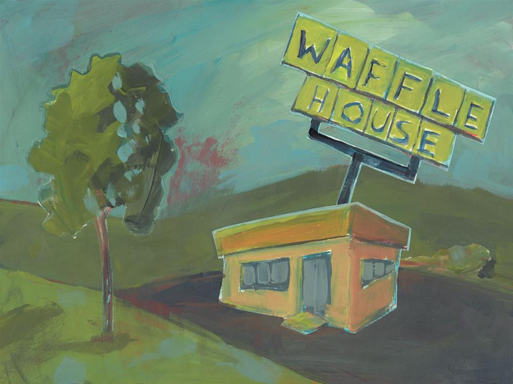 """1111: At the Waffle House"" original fine art by Brian Miller"