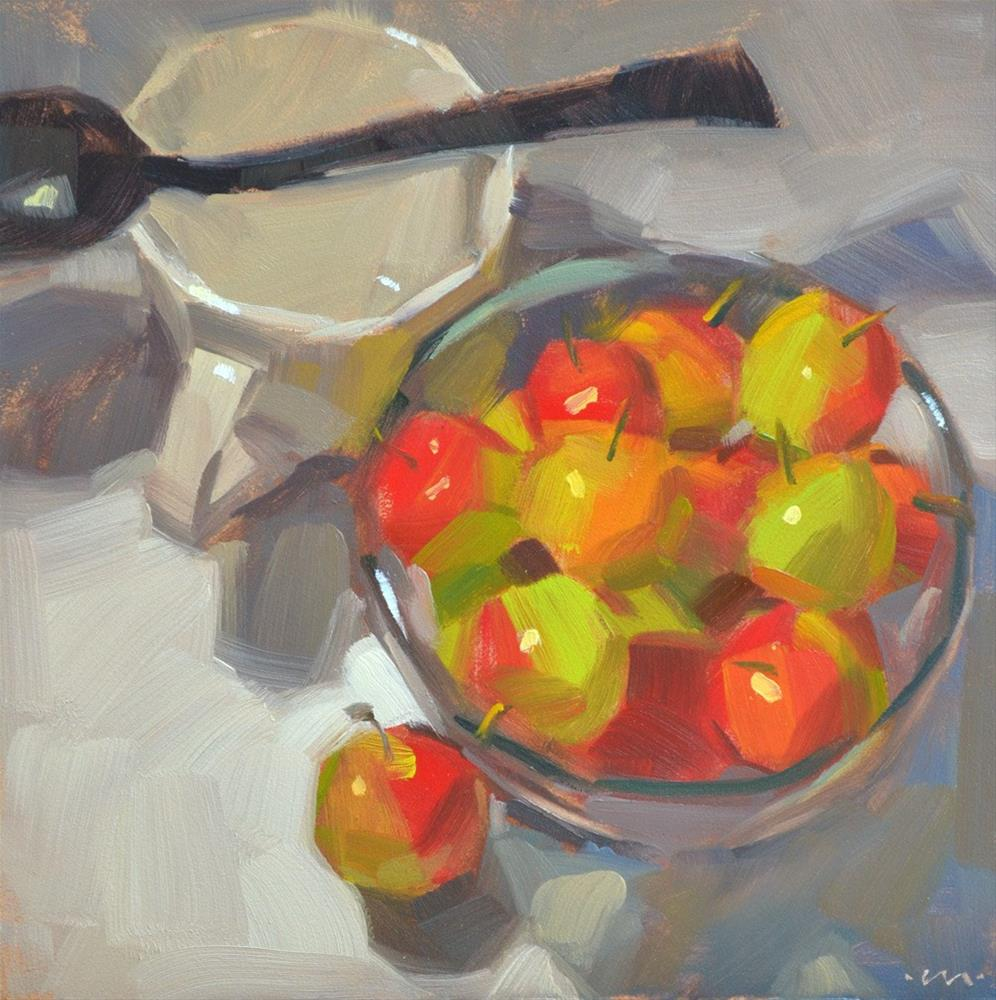 """Early Plums"" original fine art by Carol Marine"