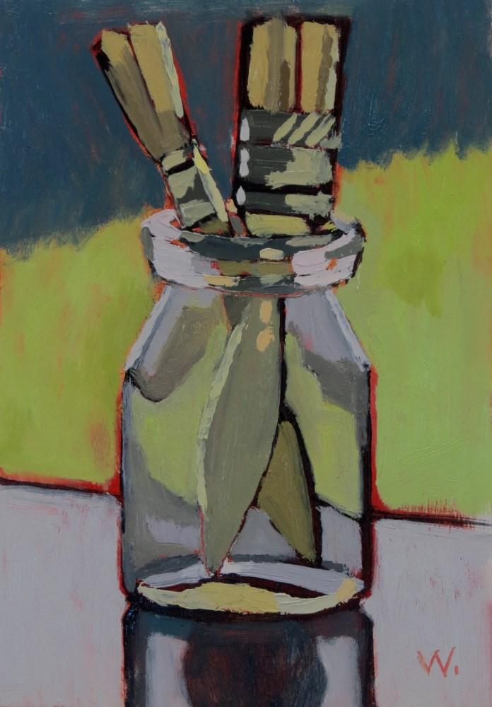 """Afternoon Brushes"" original fine art by Joan Wiberg"