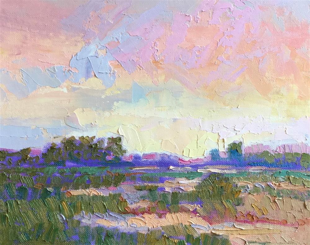 """Impasto Landscape 59"" original fine art by Charlotte Fitzgerald"