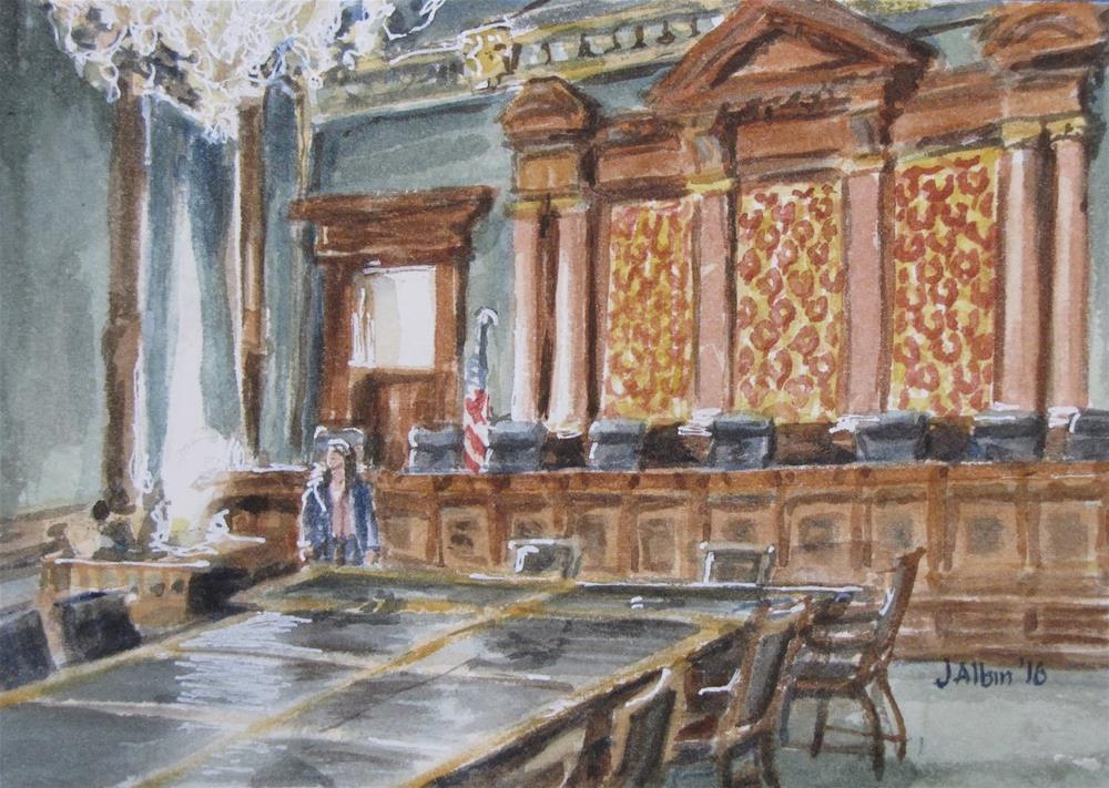 """Iowa Supreme Court Chamber"" original fine art by Jane Albin"