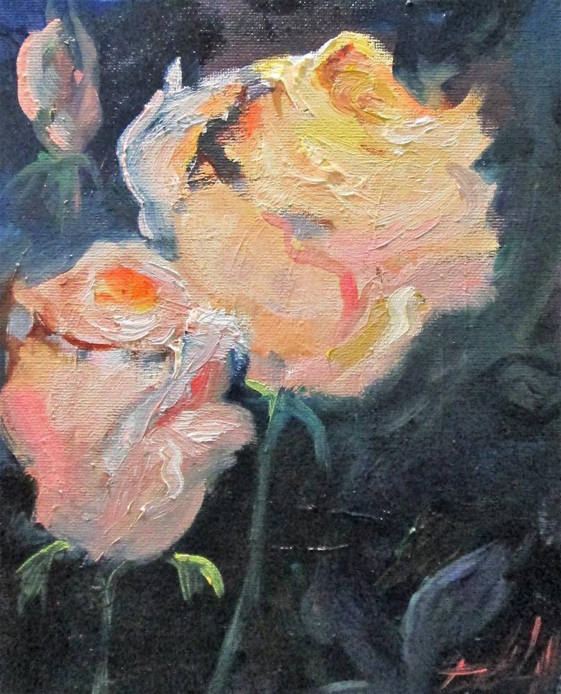 """Pink Rose No.8"" original fine art by Delilah Smith"