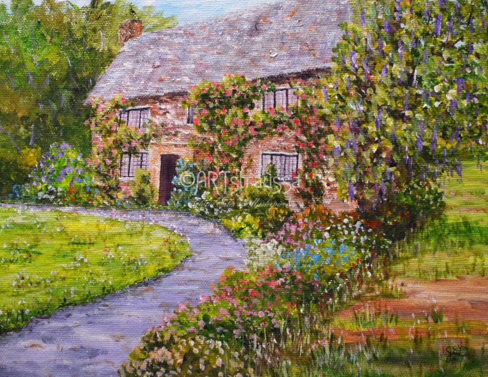 """Segensworth Estate"" original fine art by Gloria Ester"