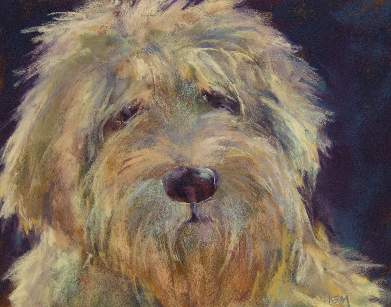 """Goldendoodle Animal Fur Color Made Simple"" original fine art by Karen Margulis"