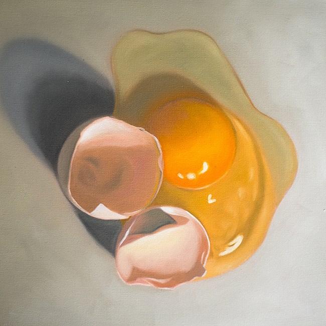 """""""Cracked Egg #4"""" original fine art by Lauren Pretorius"""
