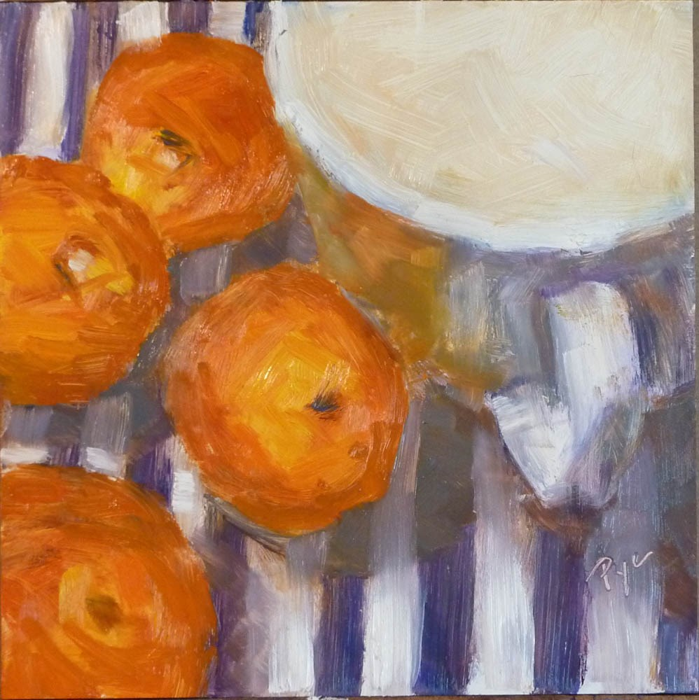 """""""More Oranges"""" original fine art by Mary Pyche"""