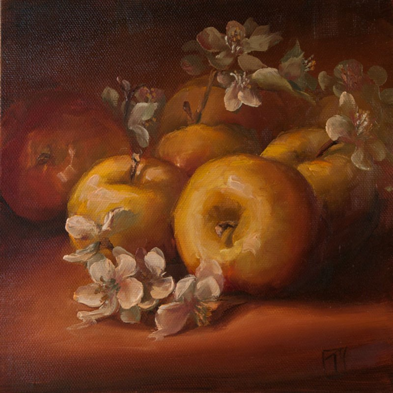 """Apple Study 2"" original fine art by Lori Twiggs"