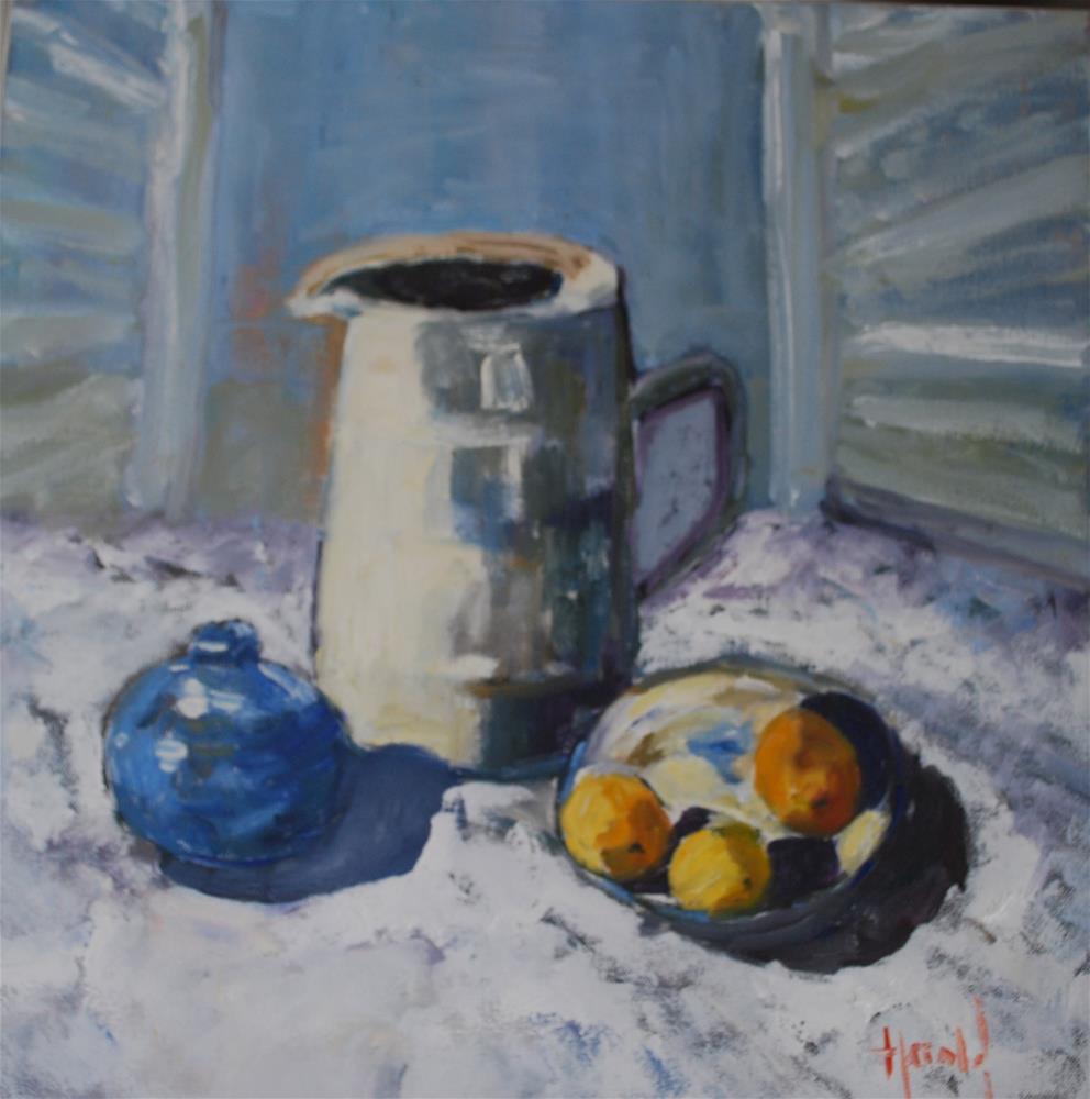 """Study of Blues"" original fine art by Deborah Harold"