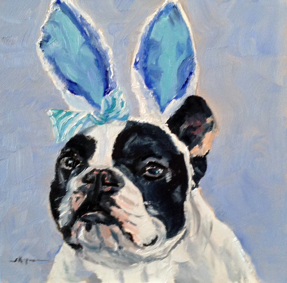"""Funny Bunny"" original fine art by Shelley Koopmann"