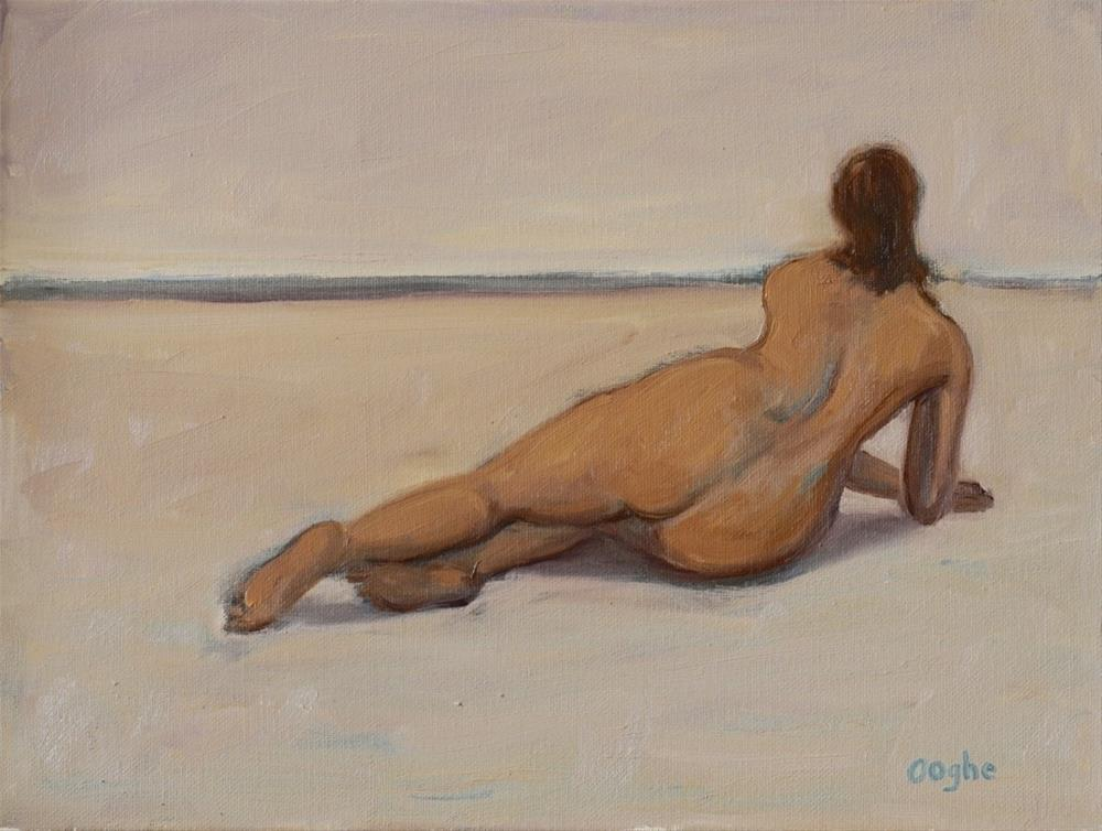 """""""Nude and Horizon"""" original fine art by Angela Ooghe"""