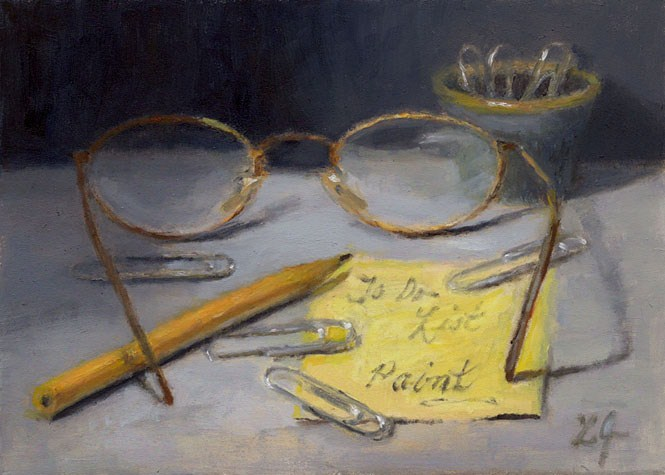 """To Do List, Paint!"" original fine art by Linda Jacobus"