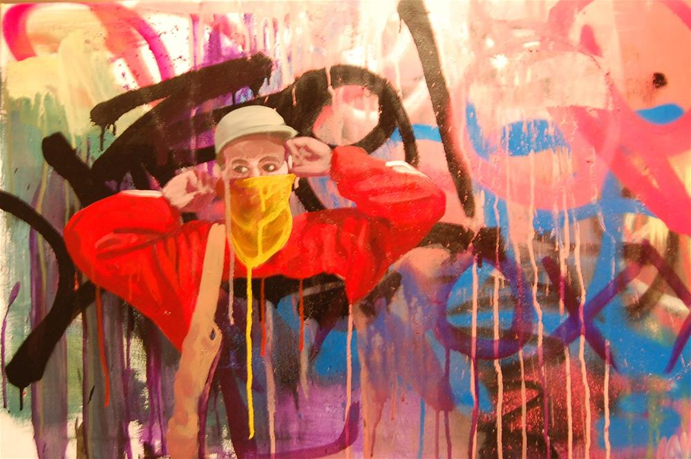 """the graffiti writer"" original fine art by michael vigneux"