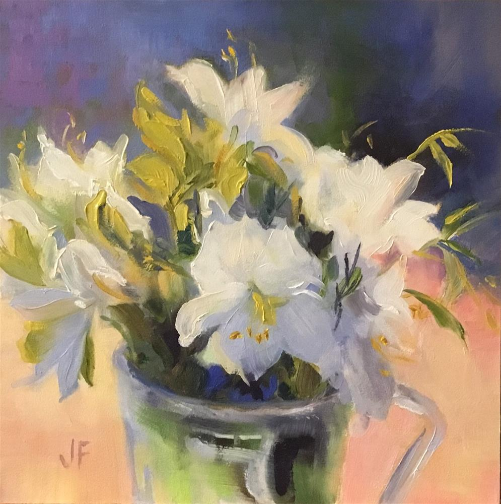 """Cup of Azaleas"" original fine art by Charlotte Fitzgerald"