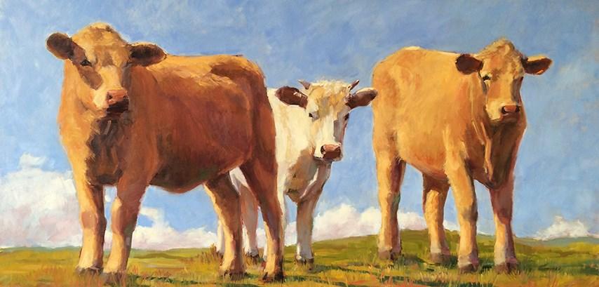 """""""Three Amigos"""" original fine art by Deborah Newman"""