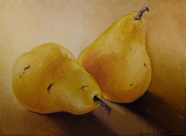"""Pears 2"" original fine art by Elaine Lynest"