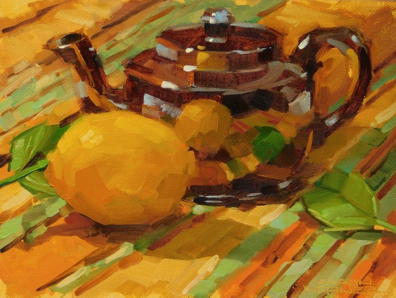 """Lemon In The Pot"" original fine art by Karen Werner"