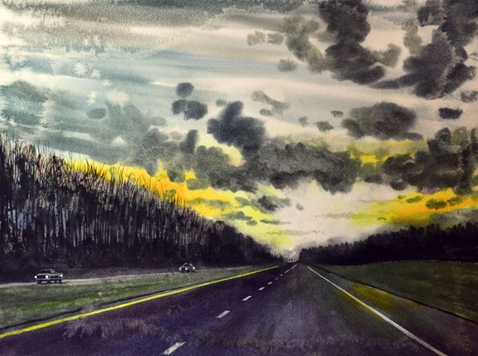 """Long Road Home"" original fine art by Jeff Atnip"