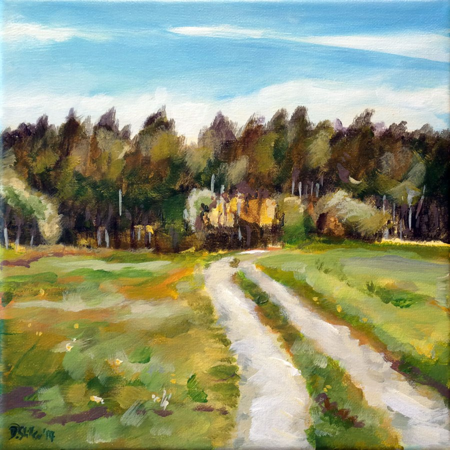 """0993 Hussleheadmeadowpath"" original fine art by Dietmar Stiller"