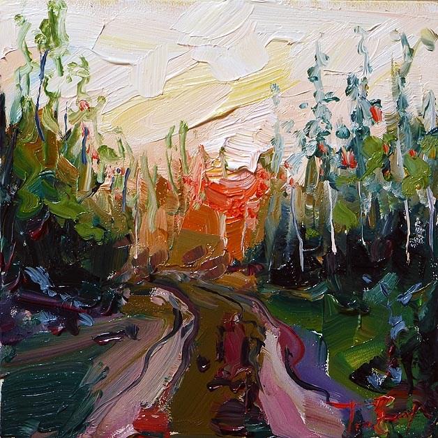 """forest"" original fine art by Jurij Frey"