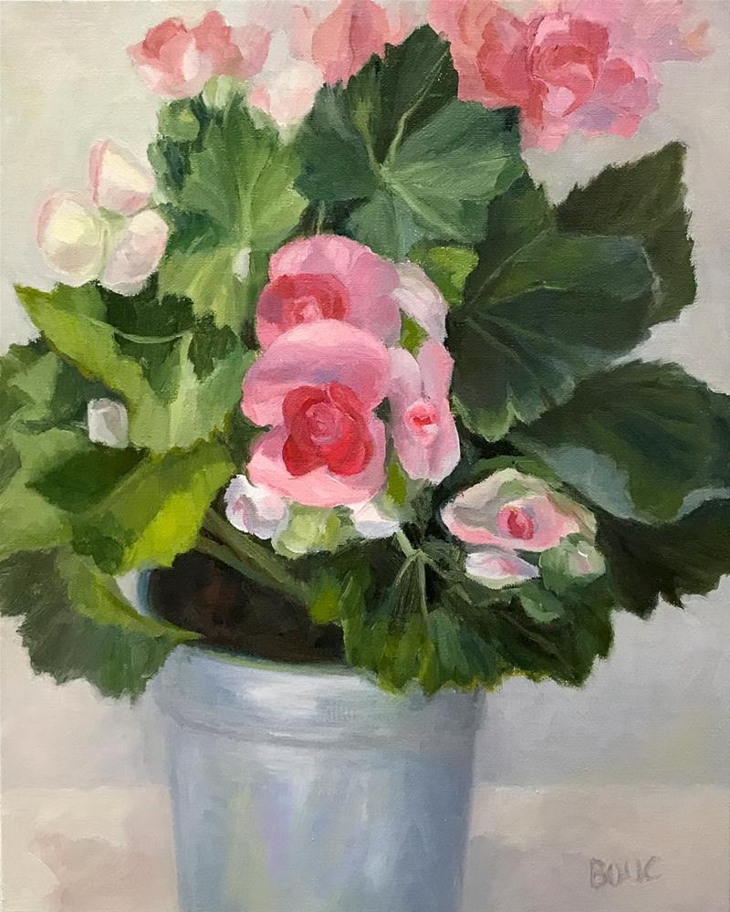 """Winter Begonias"" original fine art by Jana Bouc"