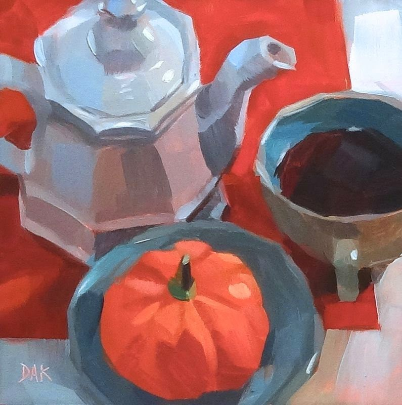 """Autumn Tea"" original fine art by Deborah Ann Kirkeeide"