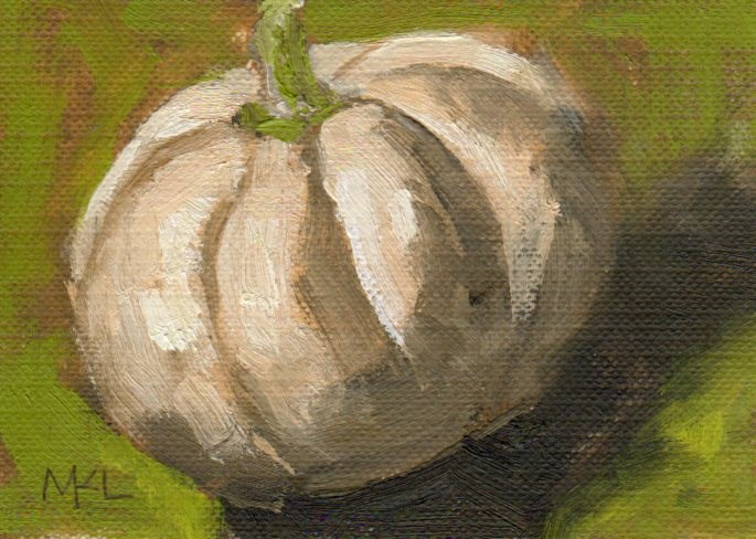 """The White Pumpkin"" original fine art by Marlene Lee"