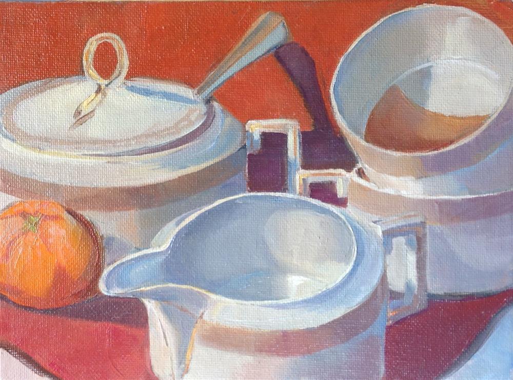 """After Tea"" original fine art by Valerie Orlemann"